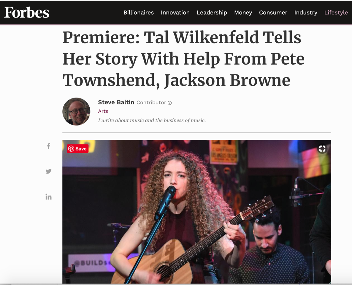 image Forbes premieres the full documentary on Tal's journey into making her new album 'Love Remains'
