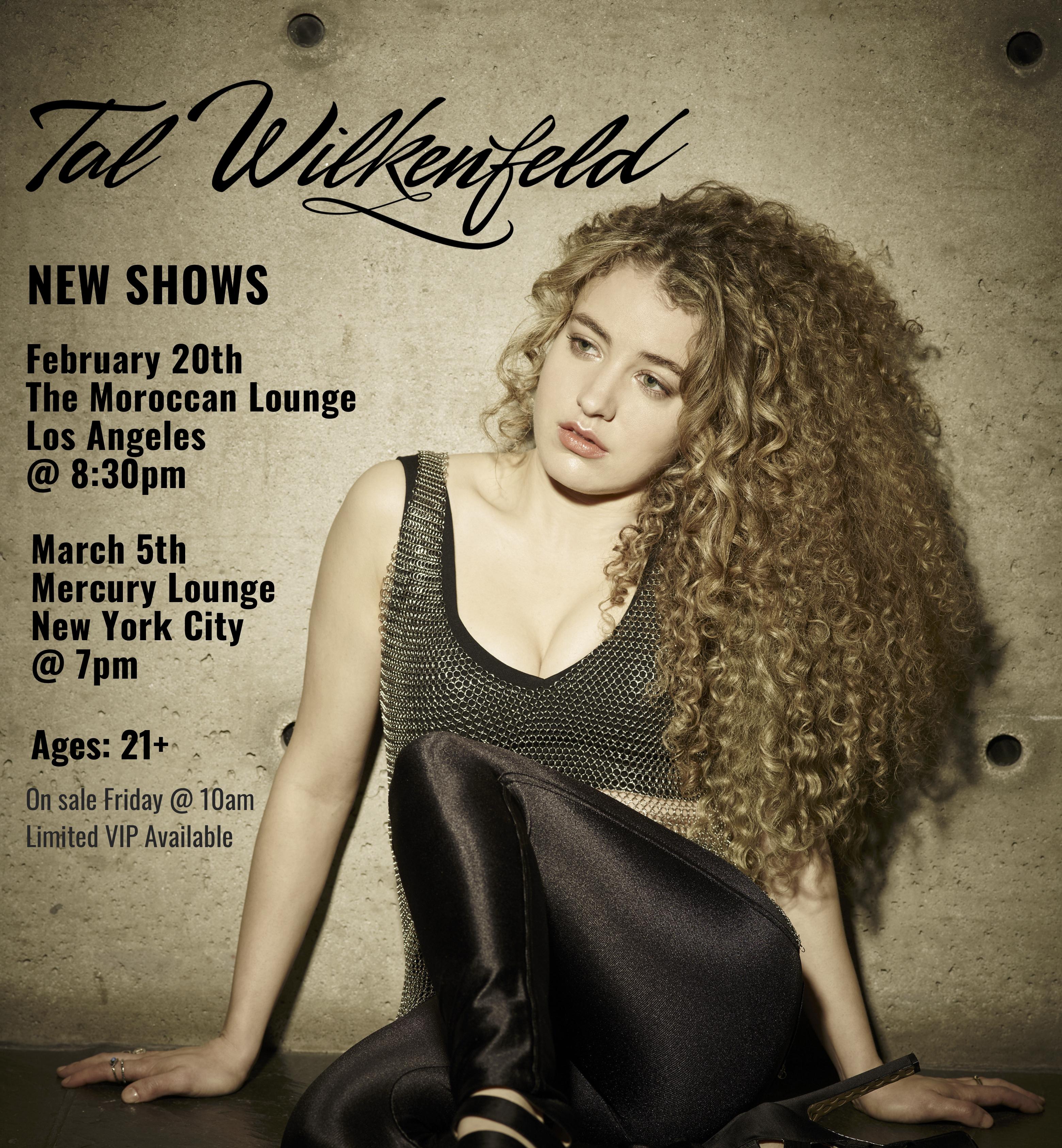 image Tal announces LA & NYC headline shows